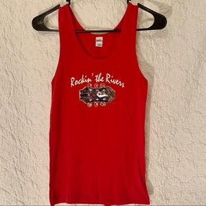 2/$10 red rockin the river tank top
